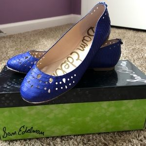 Women's size 6M Sam Edelman Leighton flat in blue